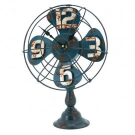 Reloj de Mesa Ventilador Azul