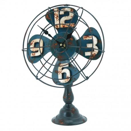 Reloj de Mesa Ventilador Azul - Envío Gratuito