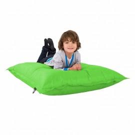 Sillón para Niños Color Verde Manzana con Acabado Lona Nylon Puff Zen Kids