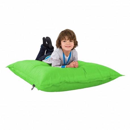 Sillón para Niños Color Verde Manzana con Acabado Lona Nylon Puff Zen Kids - Envío Gratuito