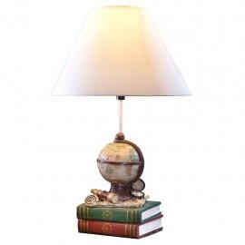 Lámpara de Mesa Globo Terráqueo y Libros