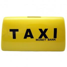 Alcancía Letrero Taxi Amarillo