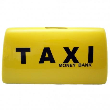 Alcancía Letrero Taxi Amarillo - Envío Gratuito
