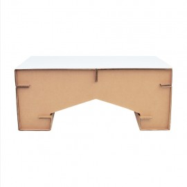 Mesa de Centro M1 con Cubierta D glaf de Cartón Corrugado - Envío Gratuito
