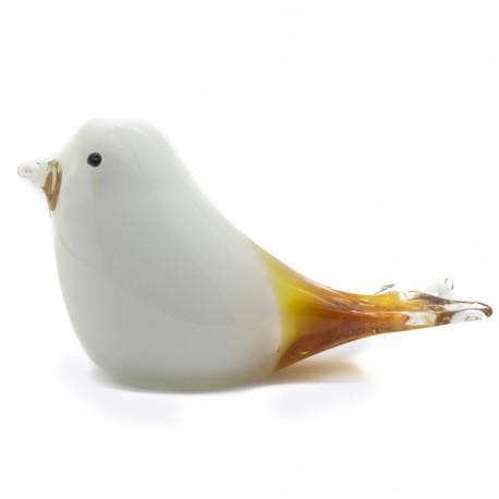Figura Decorativa de Vidrio Pájaro Blanco - Envío Gratuito