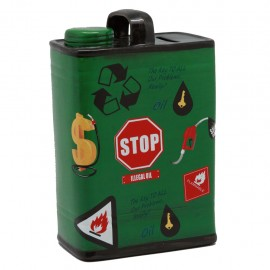Alcancía Lata Gasolina Verde