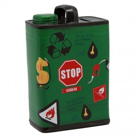 Alcancía Lata Gasolina Verde - Envío Gratuito