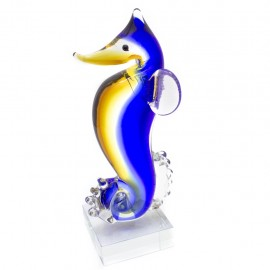Figura Decorativa de Vidrio Caballito de Mar