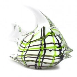 Figura Decorativa de Vidrio Pez Blanco