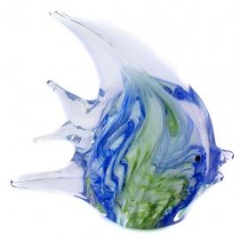Figura Decorativa de Vidrio Pez Verde