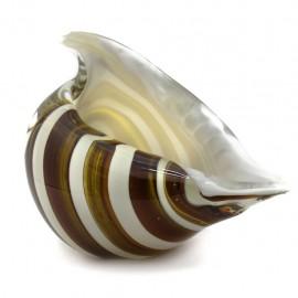 Figura Decorativa de Vidrio Caracol Café