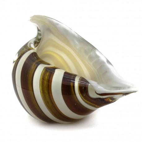 Figura Decorativa de Vidrio Caracol Café - Envío Gratuito