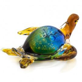 Figura Decorativa de Vidrio Tortuga Colores