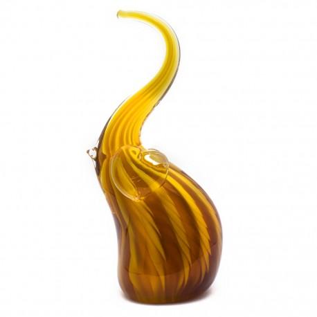 Figura Decorativa de Vidrio Elefante Café - Envío Gratuito
