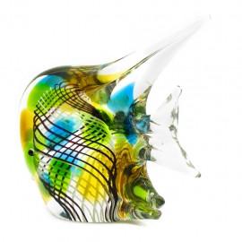 Figura Decorativa de Vidrio Pez Rayado
