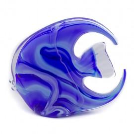 Figura Decorativa de vidrio Pez Azul