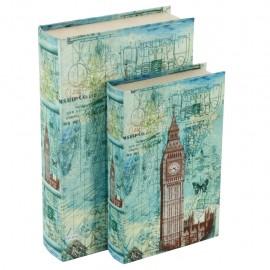 Juego de 2 Caja Libro Big Ben