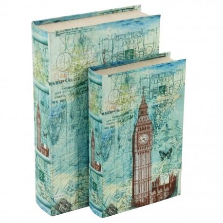 Juego de 2 Caja Libro Big Ben - Envío Gratuito