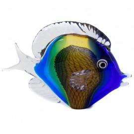Figura Decorativa de Vidrio Pez Colores