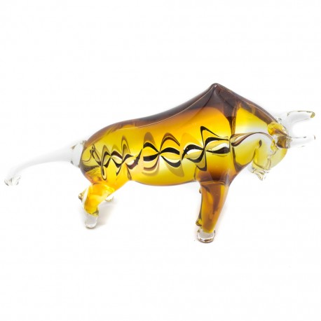 Figura Decorativa de Vidrio Toro Café - Envío Gratuito