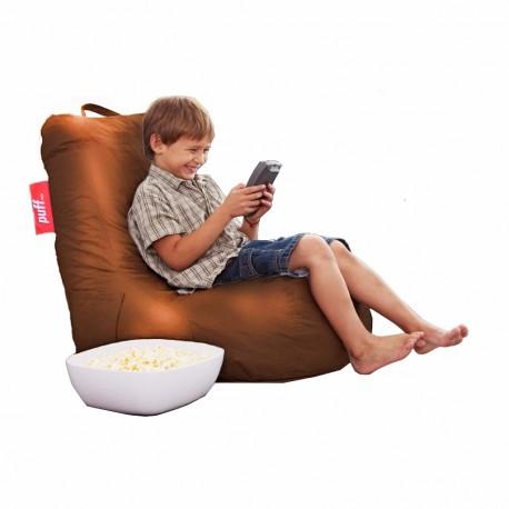 Puff Lounge Kids Acabado Tacto Piel Varios Colores - Envío Gratuito