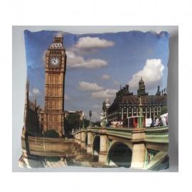Cojin decorativo 40 X 40 Cm Clock Tower CasaMia - Envío Gratuito