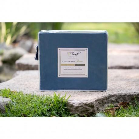 Sábanas Matrimoniales en color Azul 1800 Hilos o Fibras Ultra Finas - Envío Gratuito