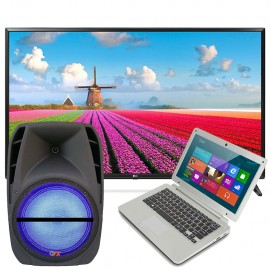 Pantalla LG 43 Smart TV  Bocina 12 QuantumFX  Notebook Vulcan 11 6
