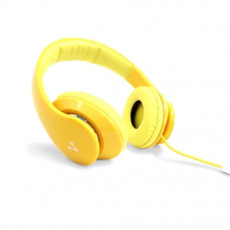 Audífonos Diadema Vorago HP-204 Amarillo - Envío Gratuito