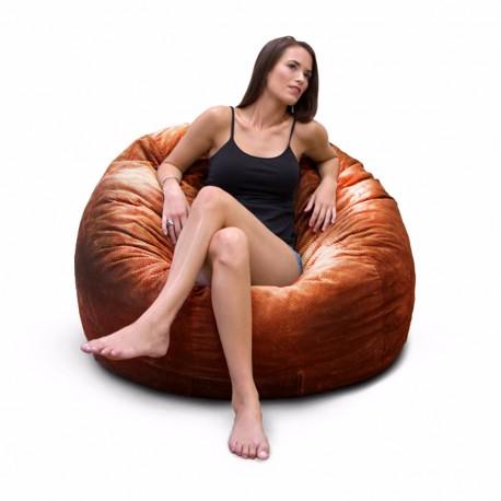 Puff con cama individual 2 en 1 acabado tacto piel Varios Colores - Envío Gratuito