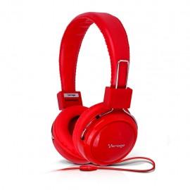 Audífonos Diadema Vorago HP-300 Rojo