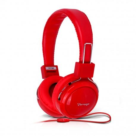 Audífonos Diadema Vorago HP-300 Rojo - Envío Gratuito