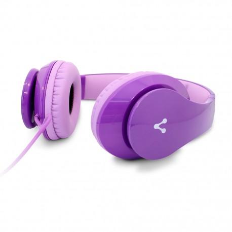 Audífonos Diadema Vorago HP-204 Morado - Envío Gratuito