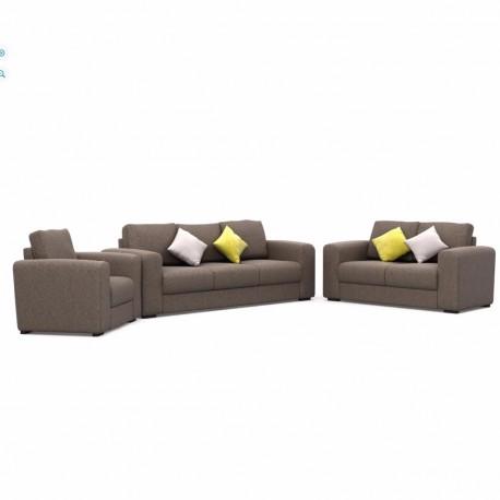 Sala Luver 3 piezas estilo contemporáneo color gris - Envío Gratuito
