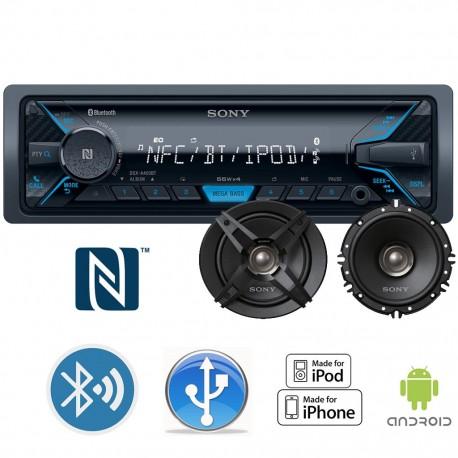 Autoestéreo Sony DSX-A400BT + Bocinas - Envío Gratuito