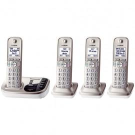 Teléfonos Panasonic KX TG444SK Enlace2Cell 4 Auriculares BlueTooth - Envío Gratuito
