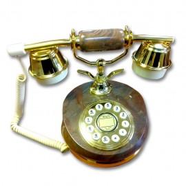 Telefono Alambrico Diseño Frances Piedra Cerámica Café - Envío Gratuito
