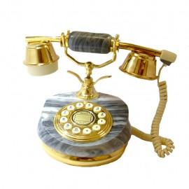 Telefono Alambrico Diseño Frances Piedra Cerámica - Envío Gratuito