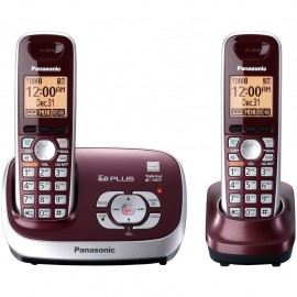 Teléfonos Panasonic KX-TG6572R DECT 6.0 Inalámbricos Reacondicionados - Envío Gratuito