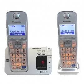Teléfonos Panasonic KX-TGE262S Link2Cell Bluetooth Reacondicionado - Envío Gratuito