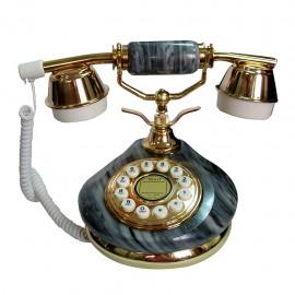 Telefono Alambrico Diseño Frances Piedra Cerámica Gris - Envío Gratuito