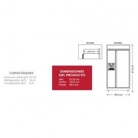 Refrigerador KitchenAid Dúplex 25p3 KBSD602ESS - Envío Gratuito
