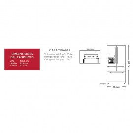 Refrigerador KitchenAid French Door 26p3 KRMF606ESS - Envío Gratuito