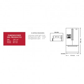 Refrigerador KitchenAid French Door 27p3 KRFF707ESS - Envío Gratuito