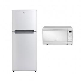 Paquete de Refrigerador Whirlpool 11 p3  Horno de Microondas Whirlpool 0 7 p3 - Envío Gratuito