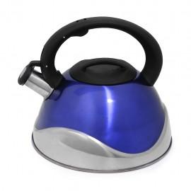 Tetera Acero Inox 3 Lts Deluxe Mod. Estocolmo Azul - Envío Gratuito