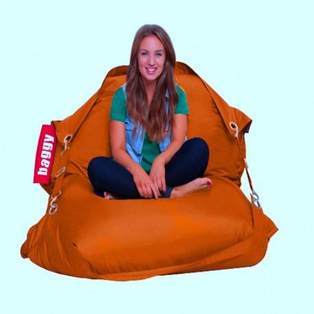 Sillón Puff Baggy Belt Naranja - Envío Gratuito