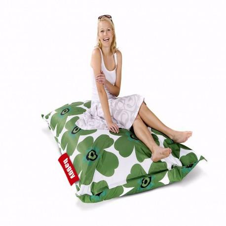 Sillón Puff Baggy Elemental Flores Verdes - Envío Gratuito