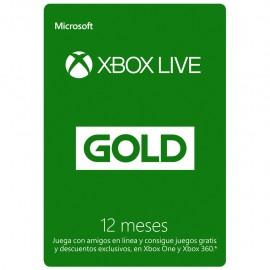 Tarjeta Xbox Live Gold de 12 Meses - Envío Gratuito