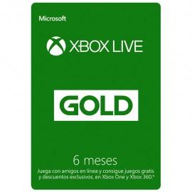 Tarjeta Xbox Live Gold de 6 Meses - Envío Gratuito